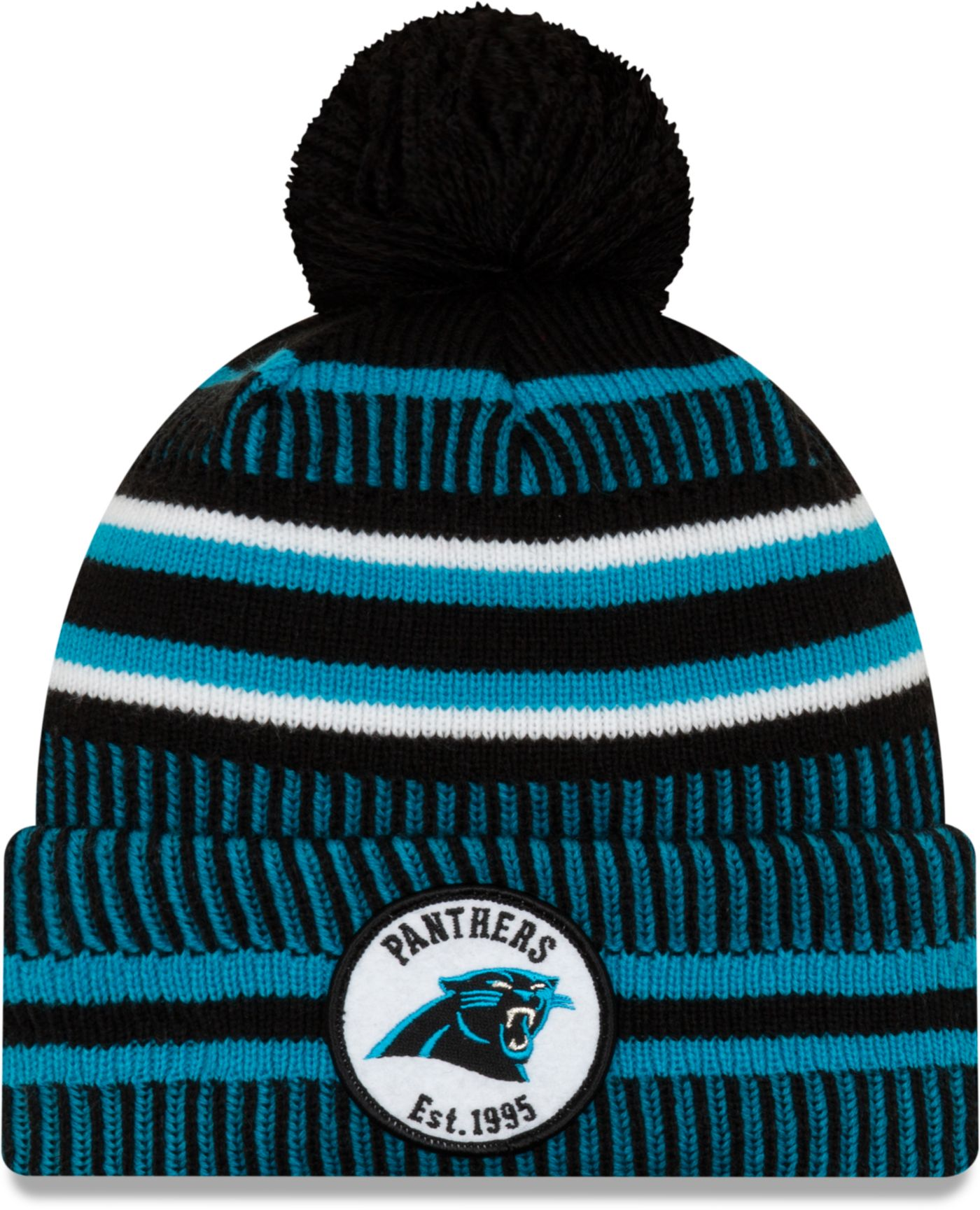 New Era Men's Carolina Panthers Sideline Home Sport Pom Knit