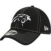New Era Men's Carolina Panthers Sideline Road 39Thirty Stretch Fit Black Hat