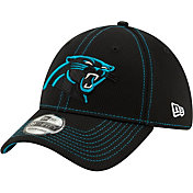 New Era Men's Carolina Panthers Sideline Road 39Thirty Stretch Fit Hat