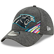 New Era Men's Carolina Panthers Sideline Crucial Catch 39Thirty Graphite Stretch Fit Hat