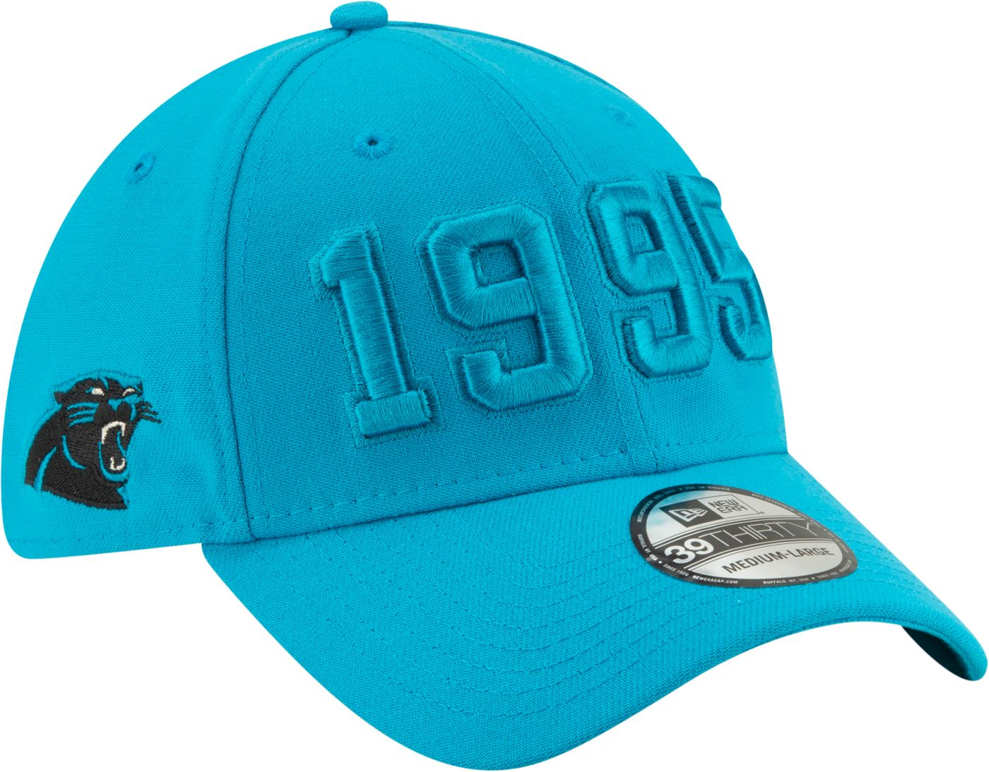 New Era Men's Carolina Panthers Sideline Color Rush 39Thirty Stretch Fit Hat