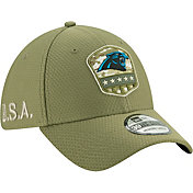 New Era Men's Salute to Service Carolina Panthers 39Thirty Olive Stretch Fit Hat