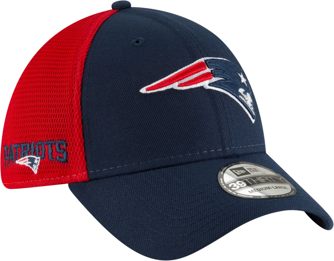 New Era Men's New England Patriots 2Tone Sided 39Thirty Stretch Fit Hat
