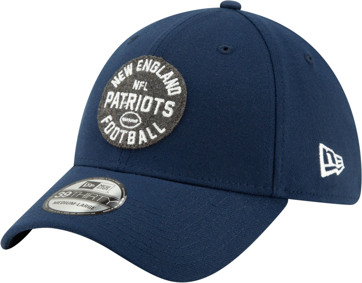 New Era Men's New England Patriots Sideline Home 39Thirty Stretch Fit Hat