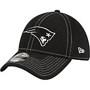 New Era Men's New England Patriots Sideline Road 39Thirty Stretch Fit Black Hat