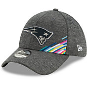 New Era Men's New England Patriots Sideline Crucial Catch 39Thirty Graphite Stretch Fit Hat
