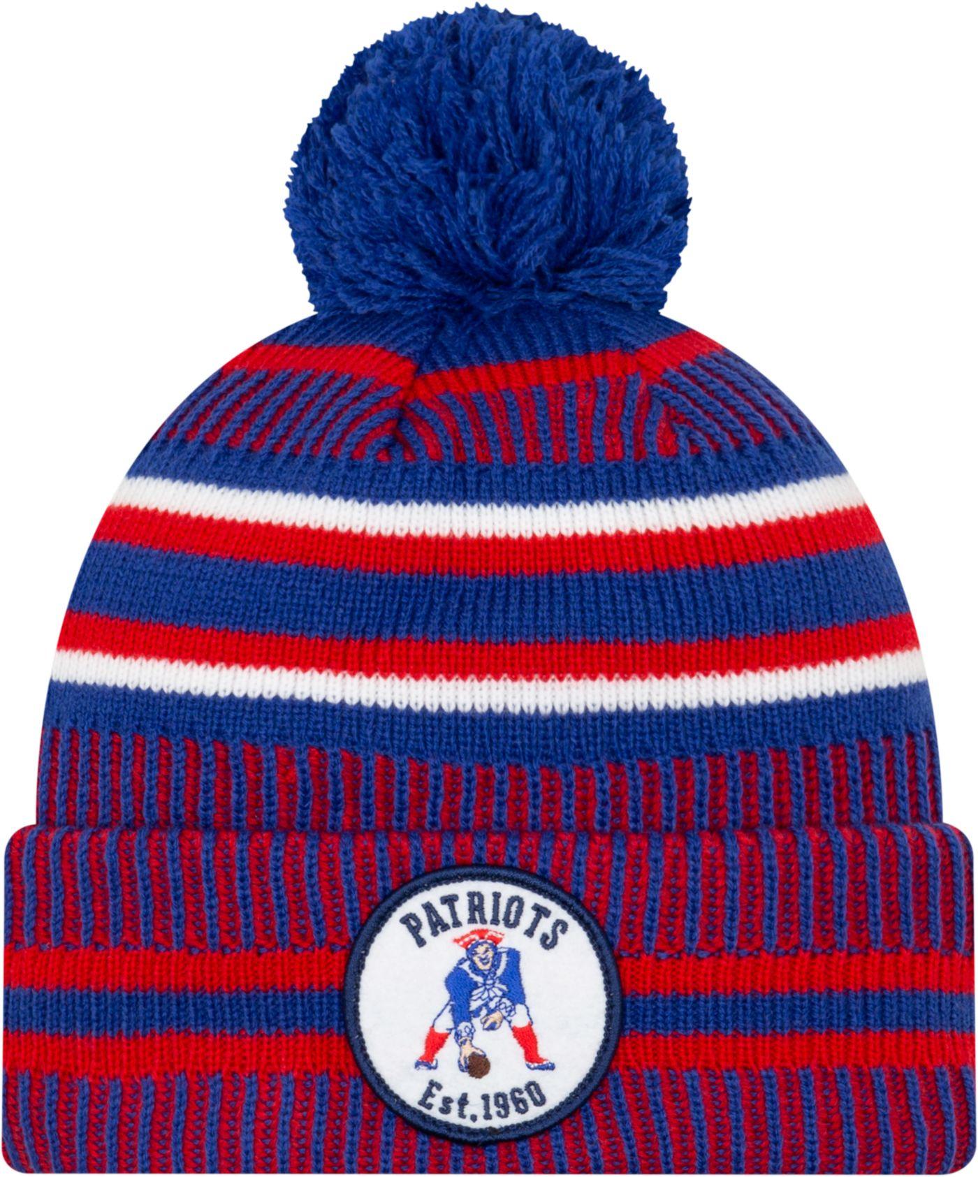 New Era Men's New England Patriots Sideline Home Sport Pom Knit