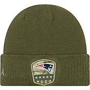 New Era Men's Salute to Service New England Patriots Olive Cuffed Knit