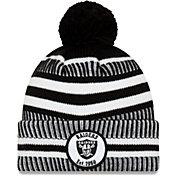 New Era Men's Oakland Raiders Sideline Home Sport Pom Knit