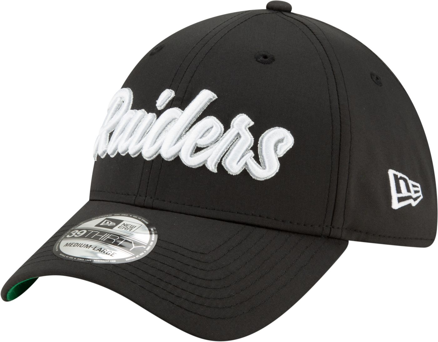 New Era Men's Oakland Raiders Sideline Home 39Thirty Stretch Fit Hat