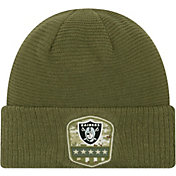 New Era Men's Salute to Service Oakland Raiders Olive Cuffed Knit