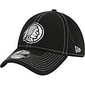 New Era Men's Washington Redskins Sideline Road 39Thirty Stretch Fit Black Hat