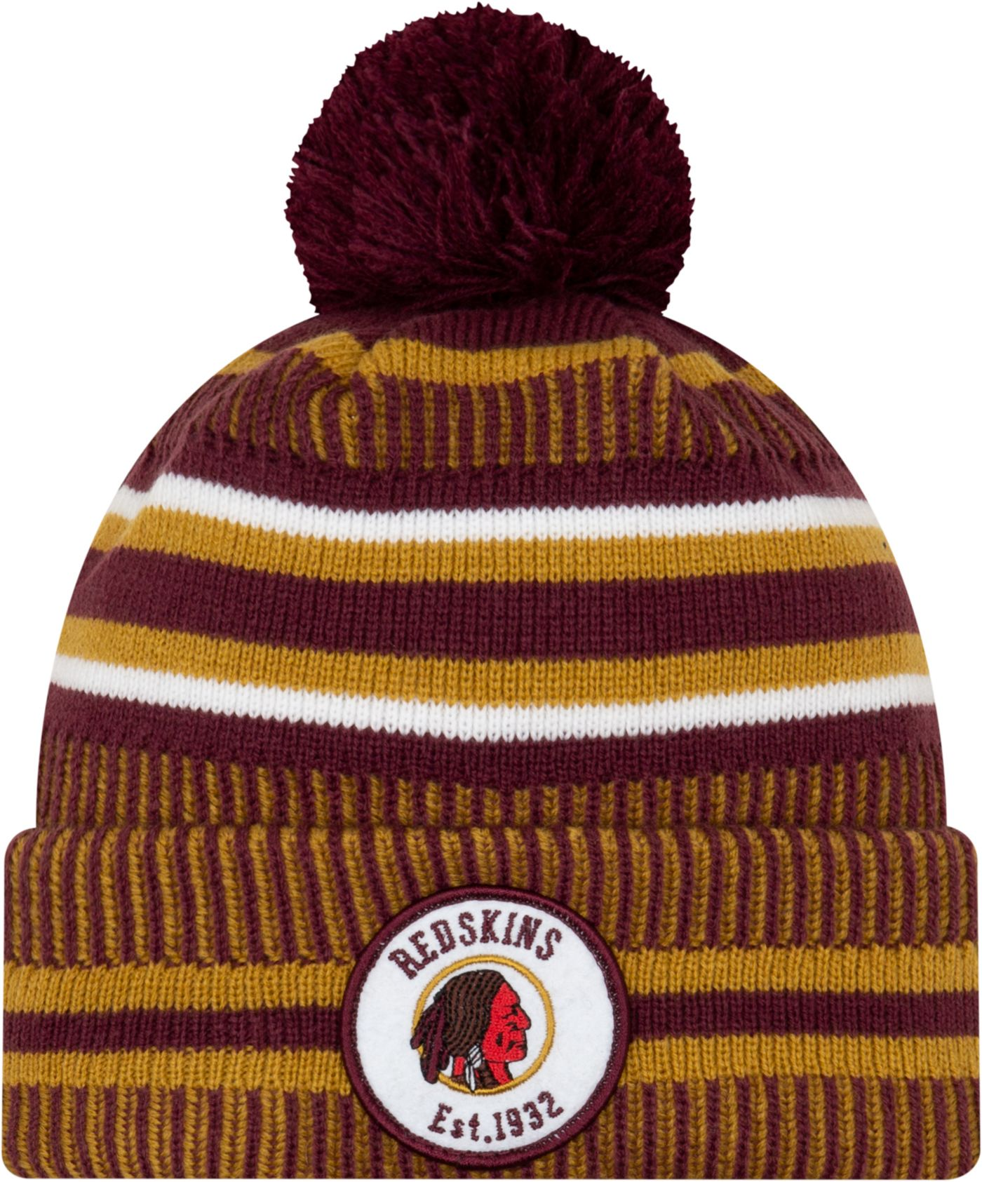 New Era Men's Washington Redskins Sideline Home Sport Pom Knit