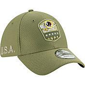 New Era Men's Salute to Service Washington Redskins 39Thirty Olive Stretch Fit Hat