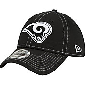 New Era Men's Los Angeles Rams Sideline Road 39Thirty Stretch Fit Black Hat