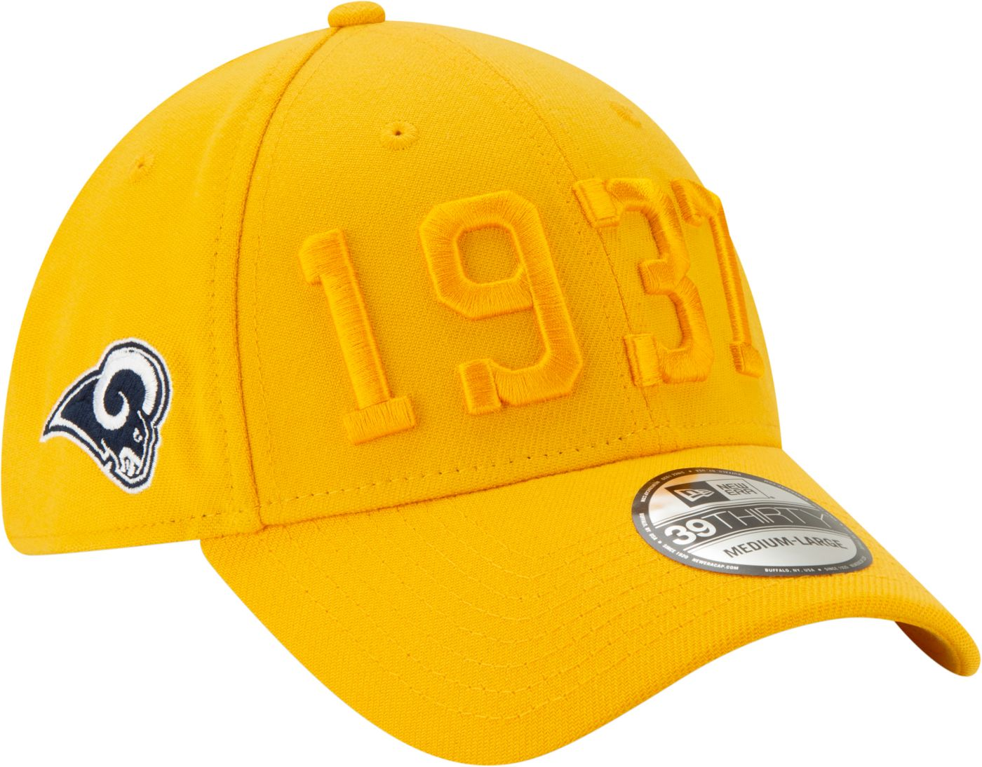 New Era Men's Los Angeles Rams Sideline Color Rush 39Thirty Stretch Fit Hat