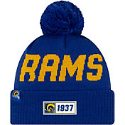 New Era Men's Los Angeles Rams Sideline Road Sport Pom Knit