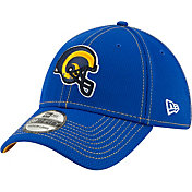 New Era Men's Los Angeles Rams Sideline Road Helmet 39Thirty Stretch Fit Hat