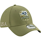 New Era Men's Salute to Service Los Angeles Rams 39Thirty Olive Stretch Fit Hat