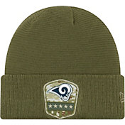 New Era Men's Salute to Service Los Angeles Rams Olive Cuffed Knit