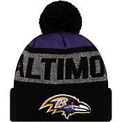 New Era Men's Baltimore Ravens Black Pom Knit