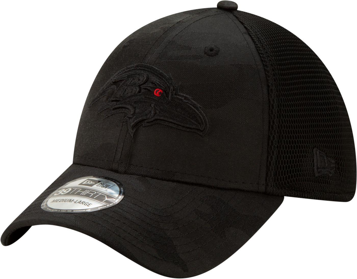 New Era Men's Baltimore Ravens Neo Camo Front 39Thirty Black Stretch Fit Hat