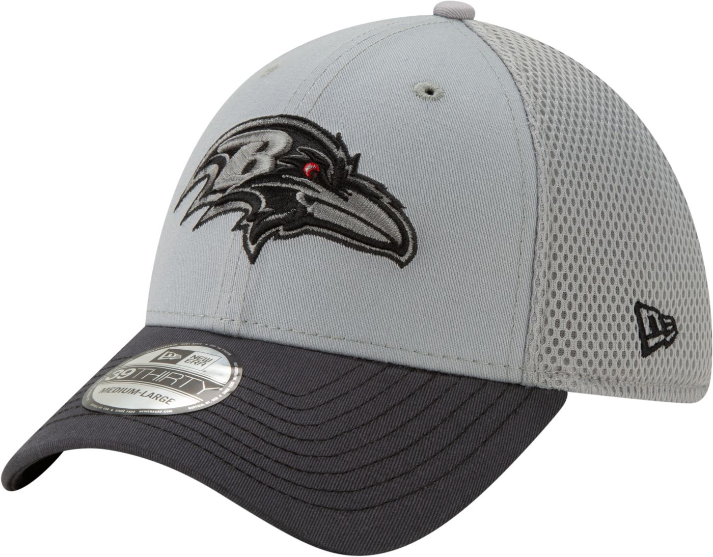 New Era Men's Baltimore Ravens Neo Grey Stretch Fit Hat
