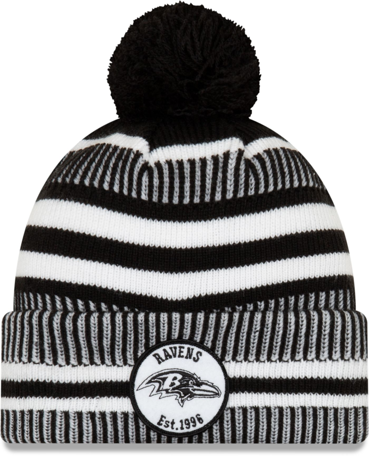 New Era Men's Baltimore Ravens Sideline Home Sport Pom Knit