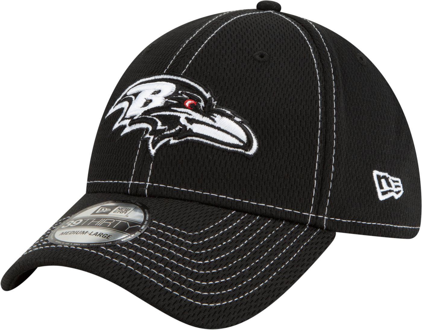New Era Men's Baltimore Ravens Sideline Road 39Thirty Stretch Fit Black Hat