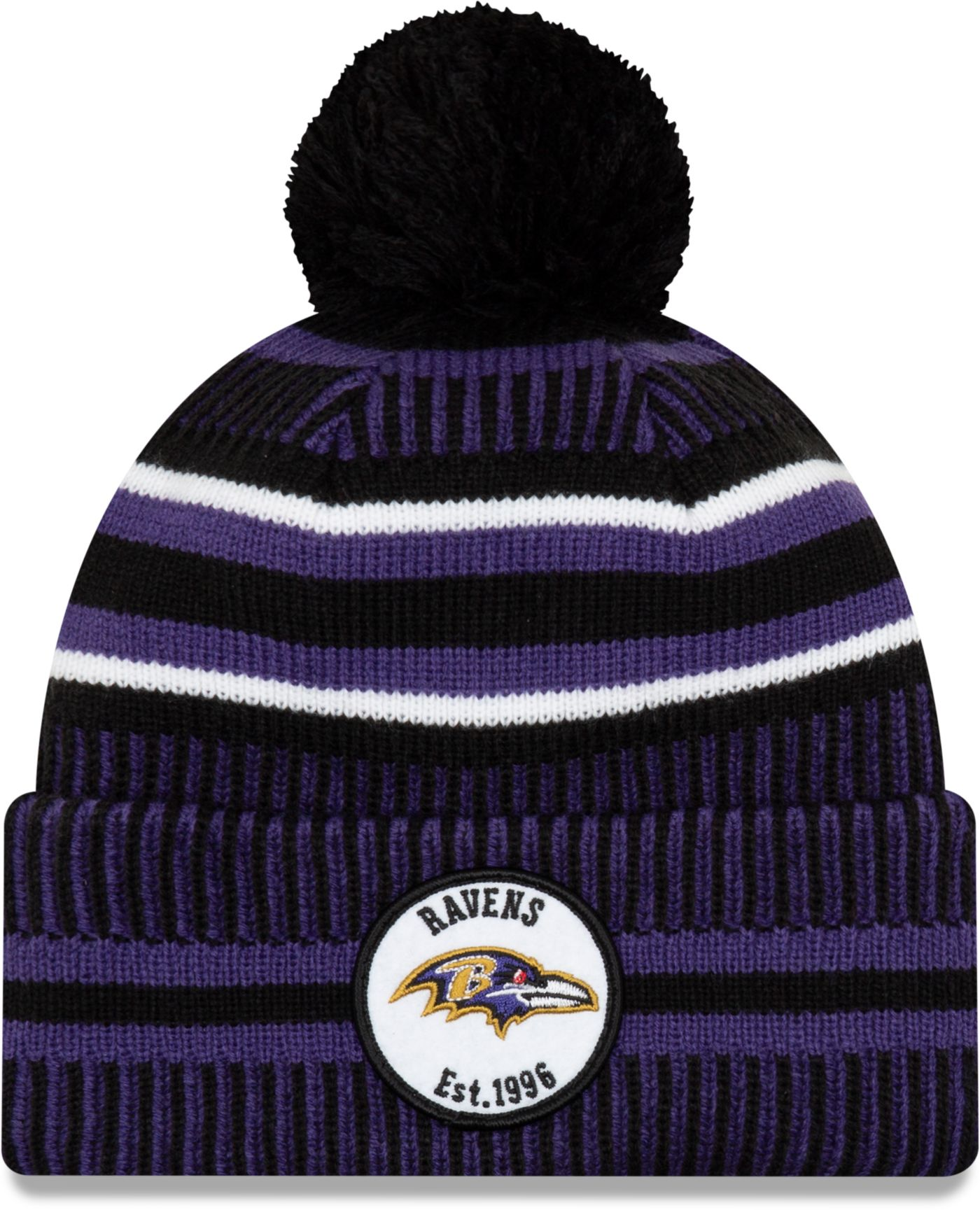 New Era Men's Baltimore Ravens Sideline Home Sport Pom Knit