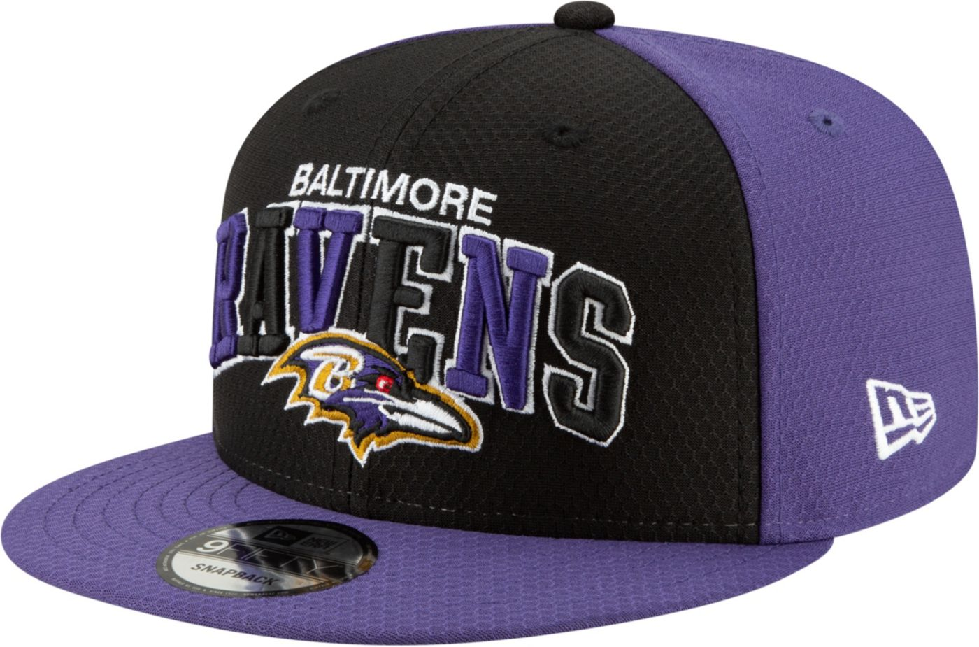 New Era Men's Baltimore Ravens Sideline Home 9Fifty Adjustable Hat