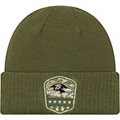 New Era Men's Salute to Service Baltimore Ravens Olive Cuffed Knit