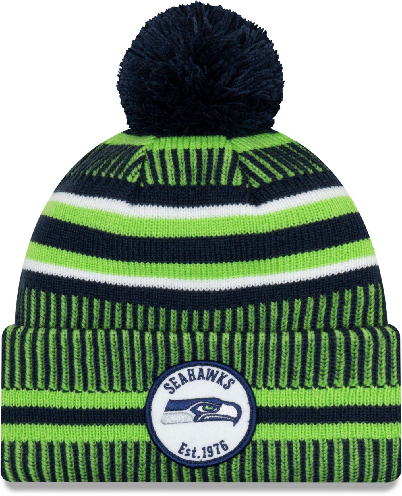 New Era Men's Seattle Seahawks Sideline Home Sport Pom Knit