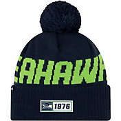 New Era Men's Seattle Seahawks Sideline Road Sport Pom Knit