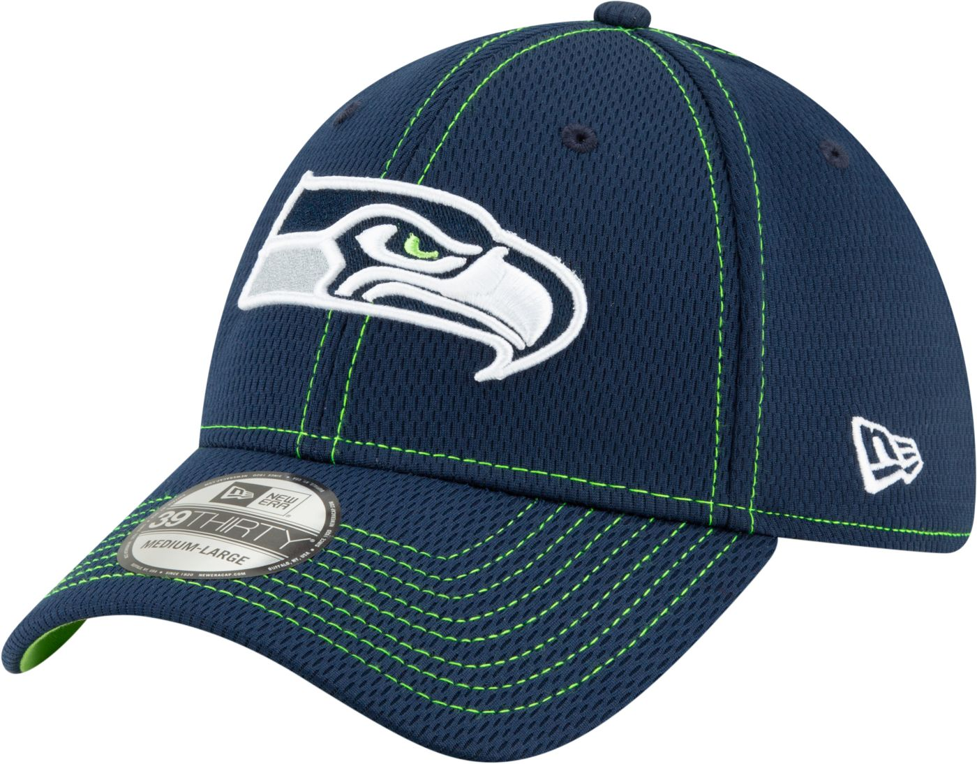 New Era Men's Seattle Seahawks Sideline Road 39Thirty Stretch Fit Hat