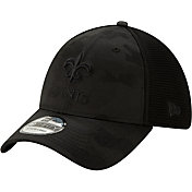 New Era Men's New Orleans Saints Neo Camo Front 39Thirty Black Stretch Fit Hat