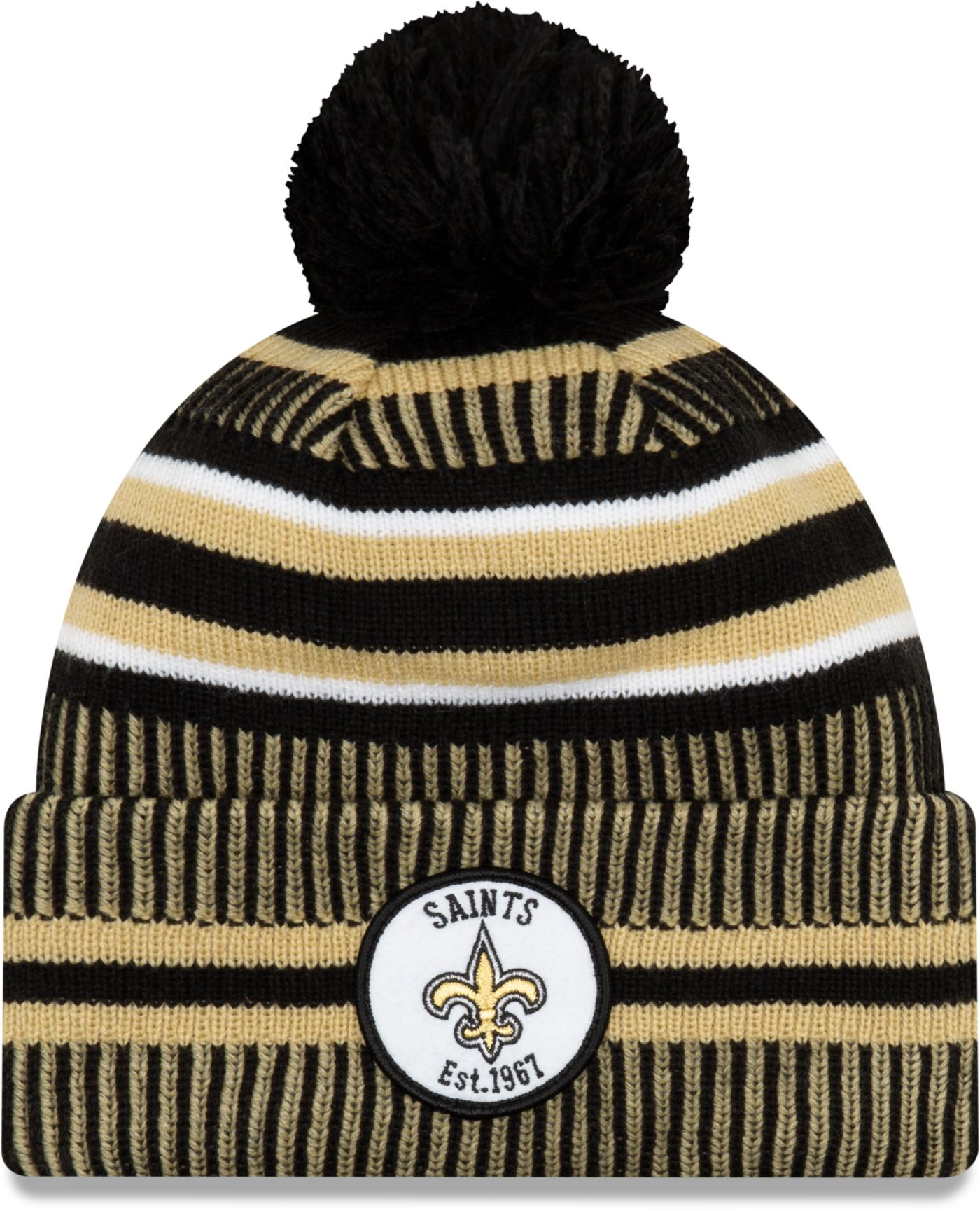 New Era Men's New Orleans Saints Sideline Home Sport Pom Knit