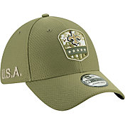 New Era Men's Salute to Service New Orleans Saints 39Thirty Olive Stretch Fit Hat