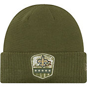 New Era Men's Salute to Service New Orleans Saints Olive Cuffed Knit
