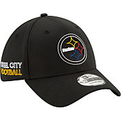 New Era Men's Pittsburgh Steelers 2020 NFL Draft 39Thirty Stretch Fit Black Hat
