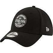 New Era Men's Pittsburgh Steelers Sideline Home 39Thirty Stretch Fit Hat