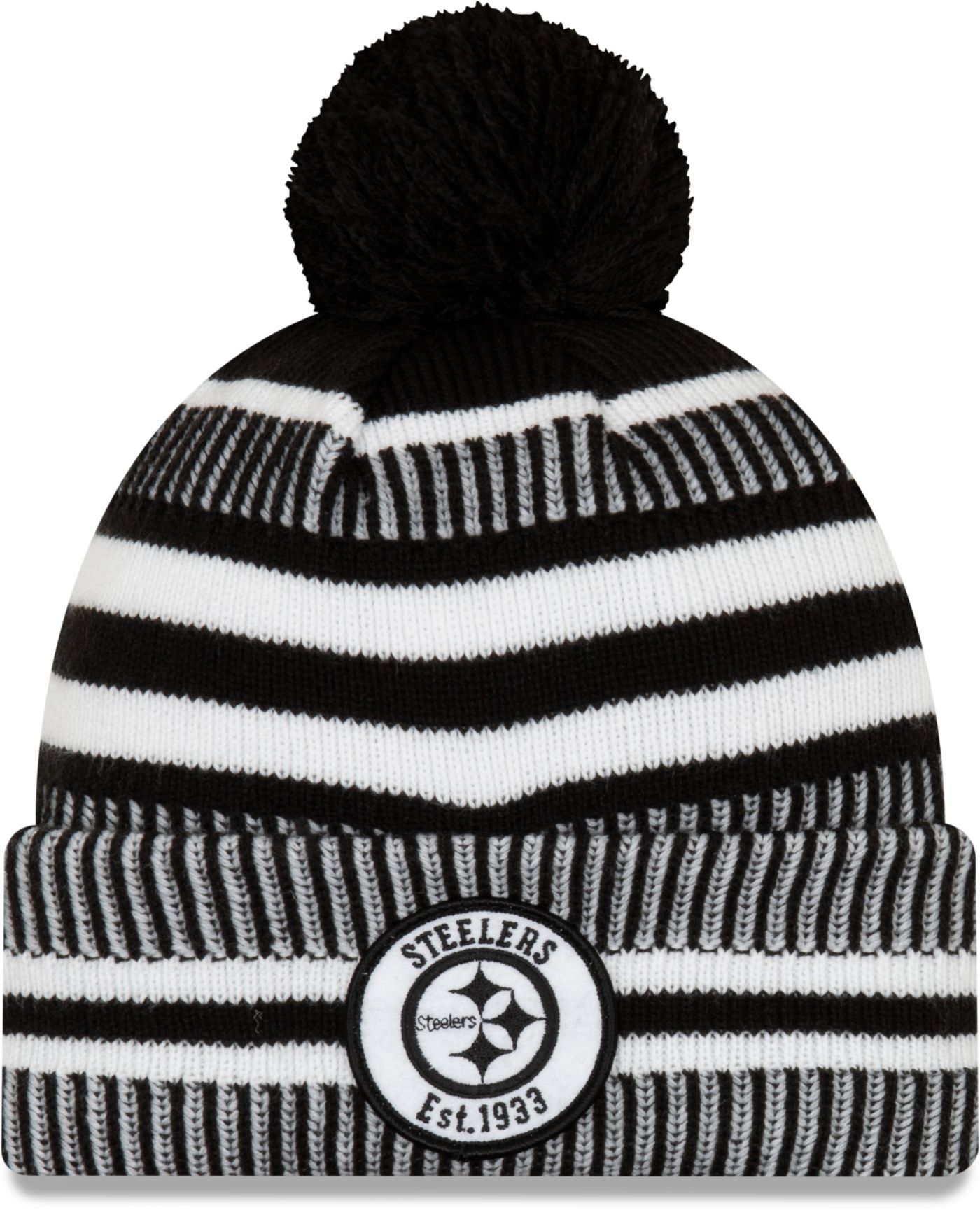 New Era Men's Pittsburgh Steelers Sideline Home Black Sports Knit