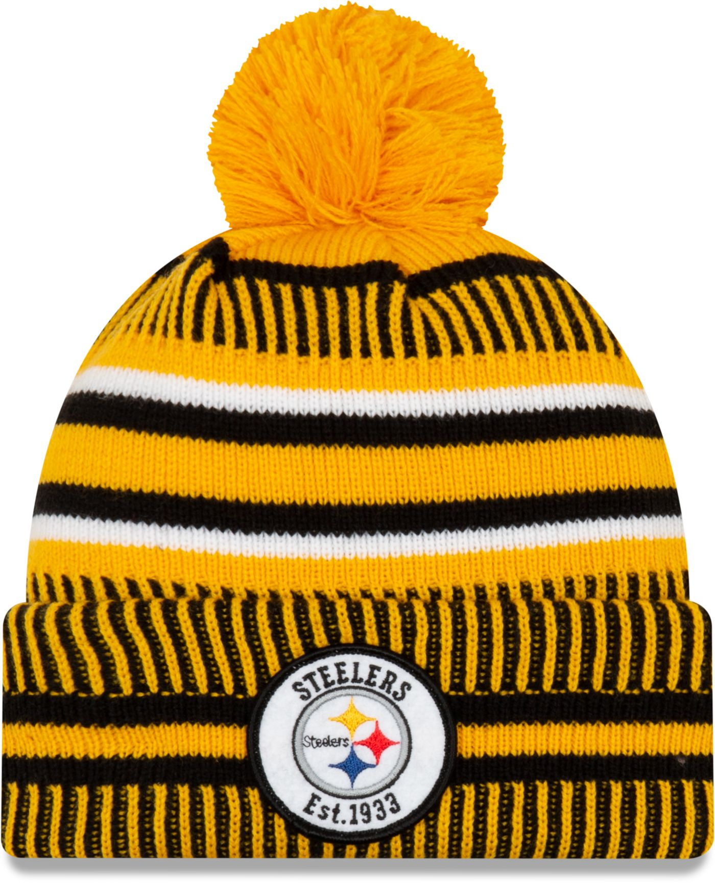 New Era Men's Pittsburgh Steelers Sideline Home Gold Sports Knit