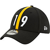 New Era Men's Pittsburgh Steelers JuJu #19 39Thirty Black Stretch Fit Hat