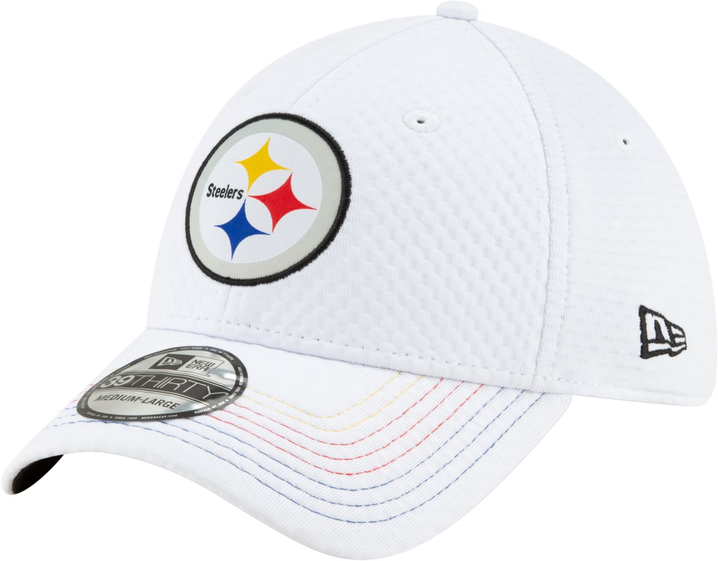 New Era Men's Pittsburgh Steelers JuJu #19 39Thirty White Stretch Fit Hat