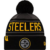 New Era Men's Pittsburgh Steelers JuJu #19 Black Pom Knit