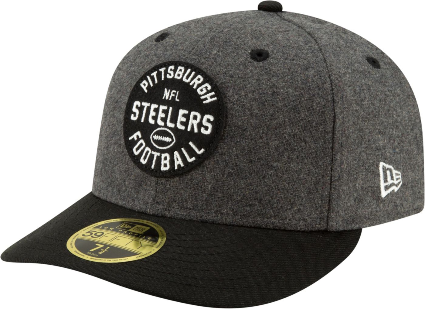 New Era Men's Pittsburgh Steelers Sideline Home 59Fifty Fitted Hat