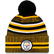 New Era Men's Pittsburgh Steelers Sideline Home Sport Pom Knit