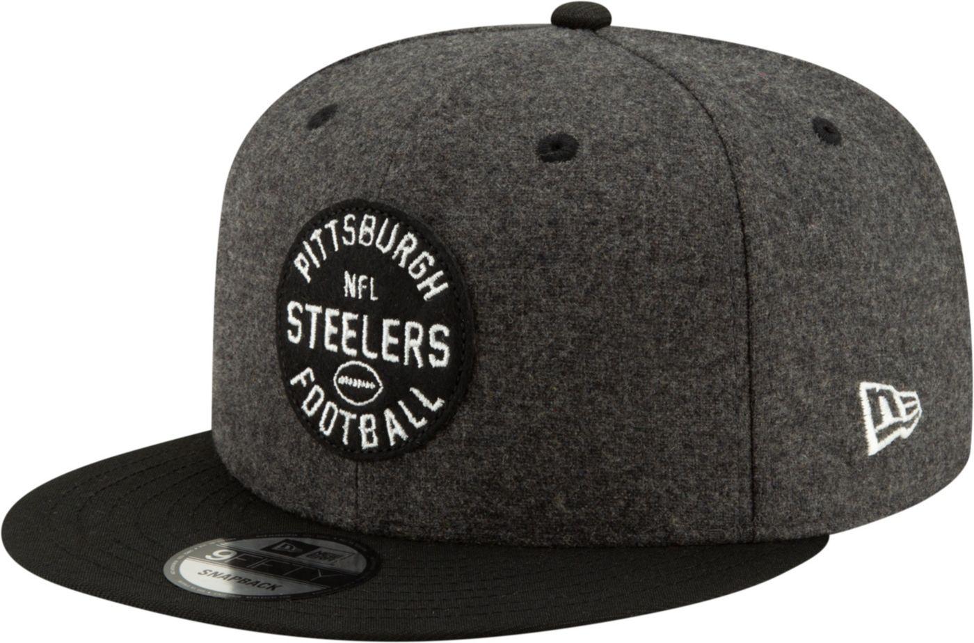 New Era Men's Pittsburgh Steelers Sideline Home 9Fifty Adjustable Hat