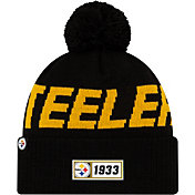New Era Men's Pittsburgh Steelers Sideline Road Sport Pom Knit